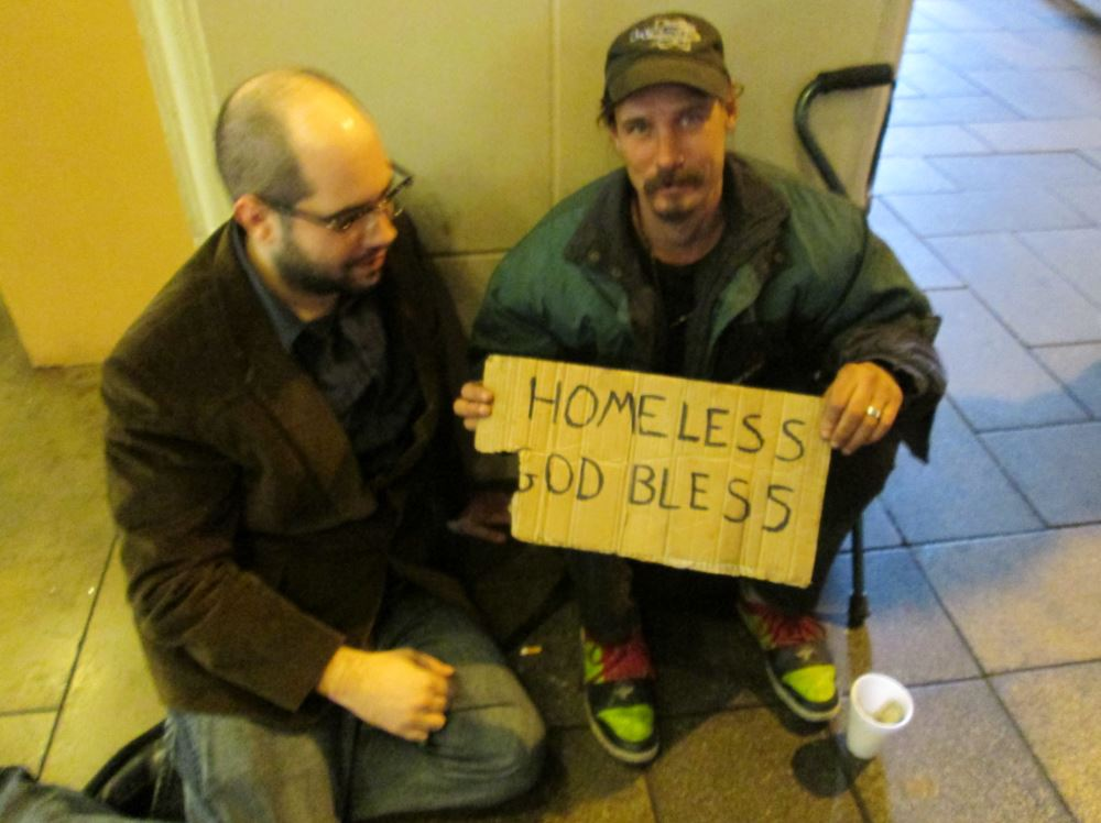 Homeless on the streets of Las Vegas