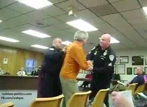 Man arrested and slammed to ground for taking less than a minute too long to speak.